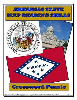 NO PREP Elementary Arkansas Map Close Reading and Crossword
