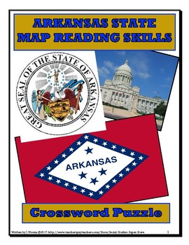 NO PREP Elementary Arkansas Map Close Reading and Crossword