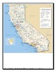 NO PREP Elementary California Map Close Reading and Crossword