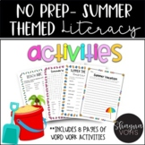 NO PREP End of the Year Literacy Activities