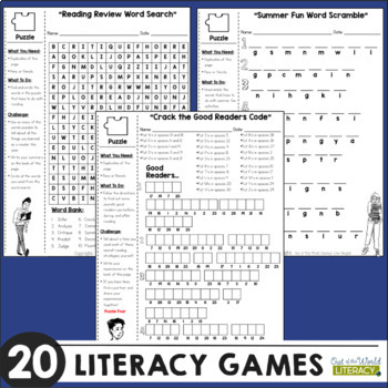 End of the Year Literacy Packets | Distance Learning | Google Classroom