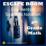 ⭐NO PREP Exponents & Scientific Notation Escape Room (8th Grade Math)⭐