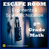 ⭐NO PREP Exponents & Scientific Notation Escape Room (8th