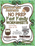 NO PREP FACT FAMILY NUMBER BOND WORKSHEET COMMON CORE MAFS