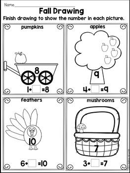 Fall NO PREP Packet- Kindergarten