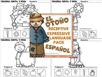 NO PREP FALL Receptive & Expressive Language Pack (PK-1) SPANISH