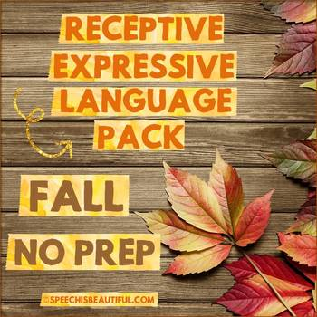NO PREP FALL Speech Therapy - Rec & Exp Language Pack