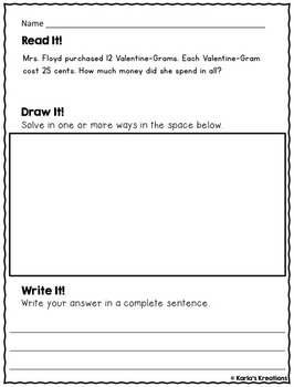 NO PREP FEBRUARY 3rd Grade Daily Word Problems