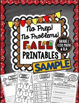 Fall No Prep - 1st Grade