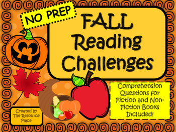 NO PREP Fall Reading Challenges!