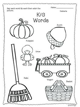NO-PREP! Fall Speech & Language Activities