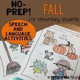 NO-PREP Fall Speech & Language Activities