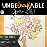 NO PREP Fall Speech Therapy Activity!