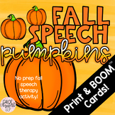 NO PREP Fall Speech Therapy Pumpkins!