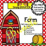 NO PREP Farm Math and Literacy Games Bundle