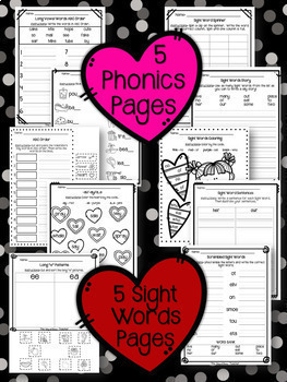 NO PREP February Substitute/Review Pack {1st Grade}