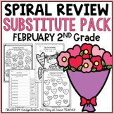 NO PREP February Substitute/Review Pack {2nd Grade}