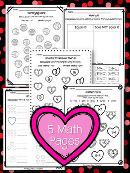 NO PREP February Substitute/Review Pack {Kindergarten}