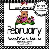 NO PREP February Word Work Journal