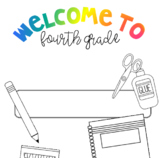NO PREP First Day of 4th Grade Packet!!! Fun & Engaging Activities + Math!