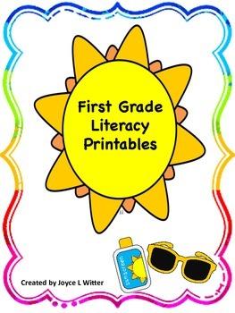 NO PREP First Grade Literacy Printable