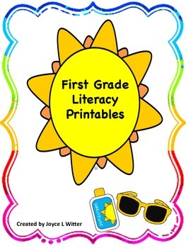NO PREP First Grade Literacy Printable