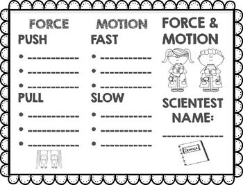 NO PREP Force and Motion Science