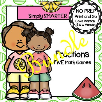 NO PREP Fraction Games Bundle