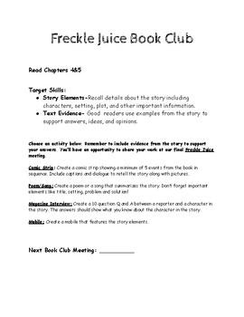 NO PREP Freckle Juice Book Club Pack