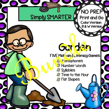 NO PREP Garden Games Bundle