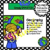 NO PREP Geography Games Bundle