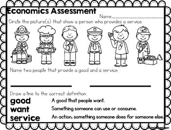 NO PREP Goods and Services Producers and Consumers 2nd grade