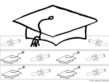 NO PREP Graduation Hat in BLACK AND WHITE