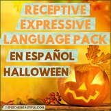 NO PREP HALLOWEEN Receptive & Expressive Language Pack (PK-1) SPANISH