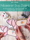 NO PREP Hallo-Wiener Dog Sliders BUNDLE: Halloween Speech Therapy Activity