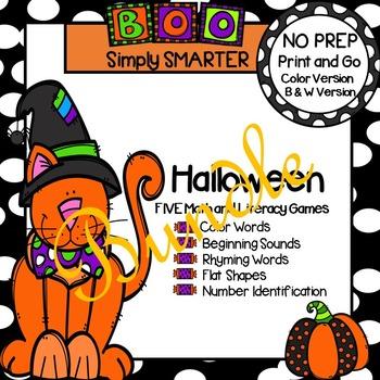 NO PREP Halloween Games Bundle
