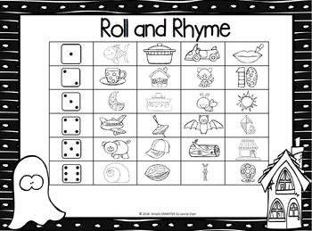 NO PREP Halloween Themed Math and Literacy Games Bundle