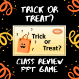NO PREP Halloween whole class review game -- Use with any subject!