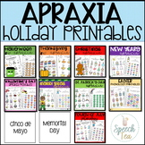 NO-PREP Holiday Apraxia Printables