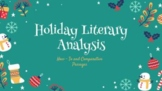 NO PREP Holiday Literary Analysis & Comparative Passages |