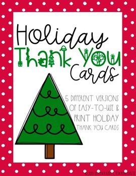 NO PREP Holiday Thank You Cards