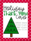 NO PREP Holiday Thank You Cards