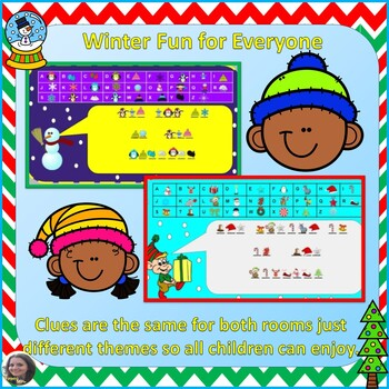 NO PREP Holiday/Winter Escape Rooms to Practice Multiplication