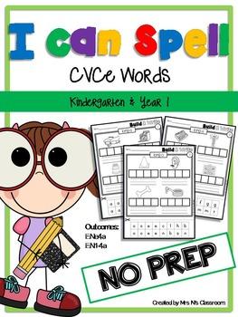 Build & Write CVCe Words - NO PREP