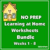 NO PREP Independent Work Packets for Preschool – Weeks 1-8 Bundle