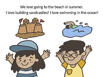 NO PREP Interactive Going to the Beach/Seashell PPT/IPAD Story
