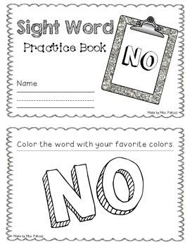 NO PREP Interactive Sight Word Practice Book - NO