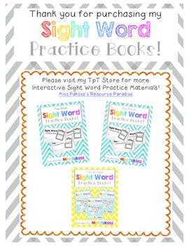 NO PREP Interactive Sight Word Practice Book - PLEASE