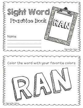 NO PREP Interactive Sight Word Practice Book - RAN