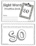 NO PREP Interactive Sight Word Practice Book - SO